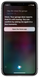Using Siri to control a garage door