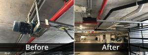 Garage Door Motor Before/After